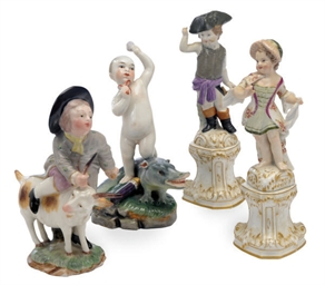 TWO GERMAN PORCELAIN FIGURES O