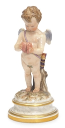 A GERMAN PORCELAIN FIGURE OF C