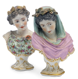 A PAIR OF AUSTRIAN PORCELAIN B