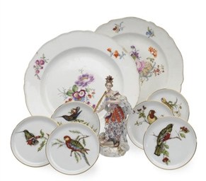 TWO GERMAN PORCELAIN PLATES DE