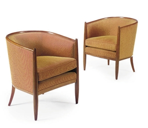 A PAIR OF ART DECO MAHOGANY TU