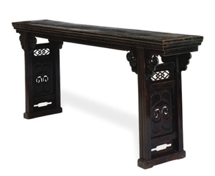 A HARDWOOD ALTAR TABLE,