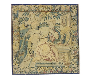 A FLEMISH TAPESTRY FRAGMENT,