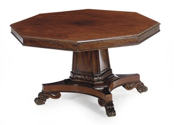 A WILLIAM IV MAHOGANY CENTER T
