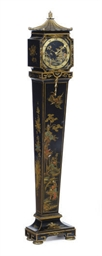 A BLACK AND GILT-JAPANNED DIMI