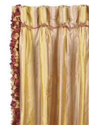FOUR PAIR OF SILK TAFFETA GOLD