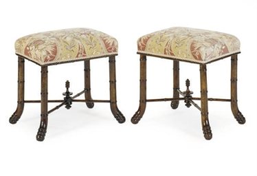 A PAIR OF EDWARDIAN BEECHWOOD