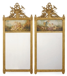 A PAIR OF FRENCH GILTWOOD TRUM