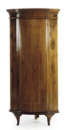 AN ITALIAN WALNUT CORNER CABIN