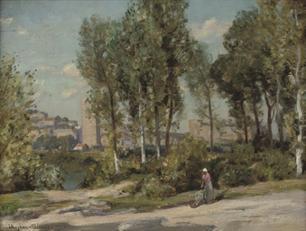 Beside a river in the Campagna