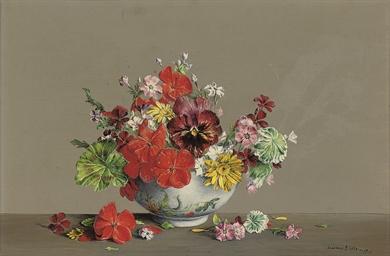 Pansy, Scarlet Geraniums, Gera