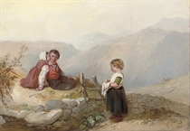 Children on a mountain top