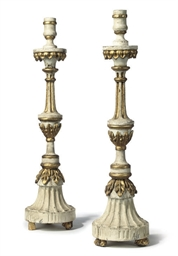 A PAIR OF ITALIAN CREAM PAINTE