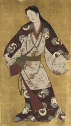 A JAPANESE PAINTING OF A DANCI