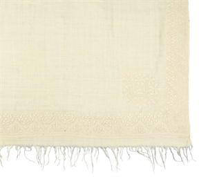 A WHITE PASHMINA SHAWL