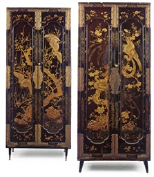 A PAIR OF JAPANESE LACQUER CAB