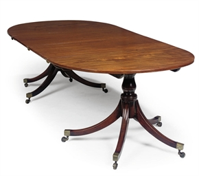 A REGENCY MAHOGANY TWIN PEDEST