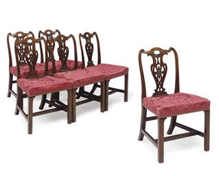 A SET OF SIX GEORGE III MAHOGA