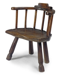 A WELSH ASH 'SHEPHERD'S' CHAIR