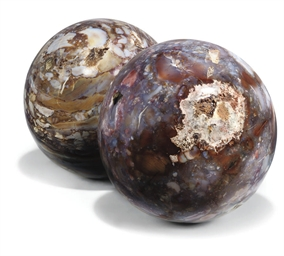 A PAIR OF MADAGASCAN JASPER SP