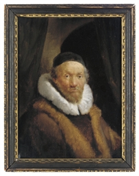 Portrait of an old man, bust-l