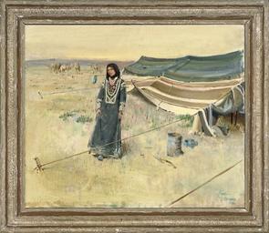 A nomadic woman