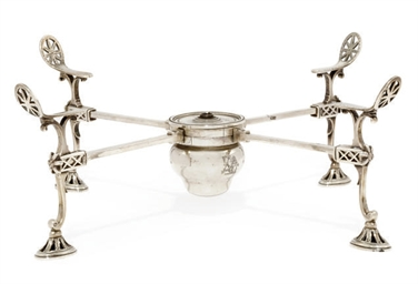 A GEORGE III SILVER DISH CROSS