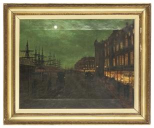 Moonlit street scene
