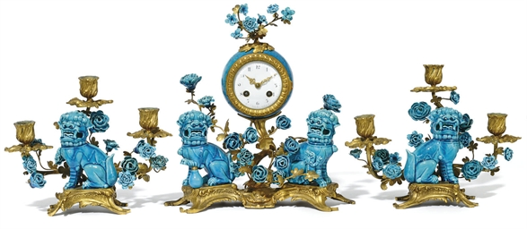 A THREE PIECE ORMOLU-MOUNTED C