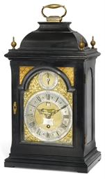 A GEORGE II EBONISED TIMEPIECE