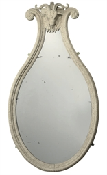 A PAIR OF WHITE-PAINTED MIRROR