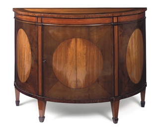 A GEORGE III SATINWOOD HAREWOO
