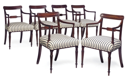 A SET OF SIX REGENCY MAHOGANY