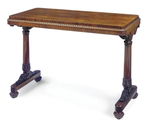 A WILLIAM IV ROSEWOOD CENTRE T
