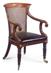 A WILLAIM IV MAHOGANY CANED BE