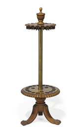 A LATE VICTORIAN OAK ROTATING