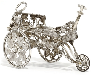 A LATE VICTORIAN SILVER-PLATED