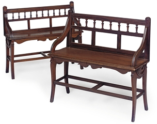 TWO SIMILAR VICTORIAN MAHOGANY