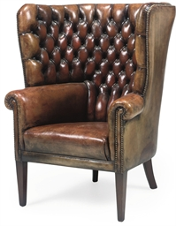 A MAHOGANY PORTER'S CHAIR