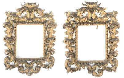 A PAIR OF ITALIAN GILTWOOD PIC