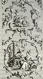 A SET OF CHINOISERIE WALLPAPER