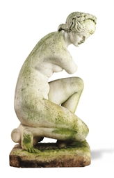 AN ITALIAN STATUARY WHITE MARB
