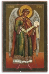 A LARGE ICON OF THE ARCHANGEL