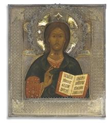 CHRIST PANTOKRATOR WITH A SILV