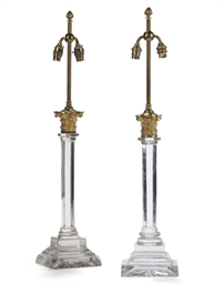 A MATCHED PAIR OF GILT-BRONZE