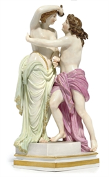 A MEISSEN GROUP OF TWO CLASSIC