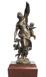 A FRENCH BRONZE GROUP ENTITLED