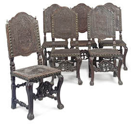 A SET OF SIX PORTUGUESE ROSEWO