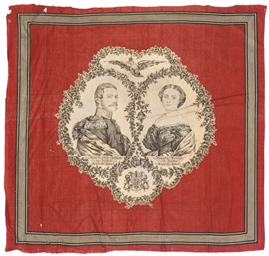A COMMEMORATIVE HANDKERCHIEF,