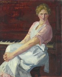 Celia, Pink Waist and Apron